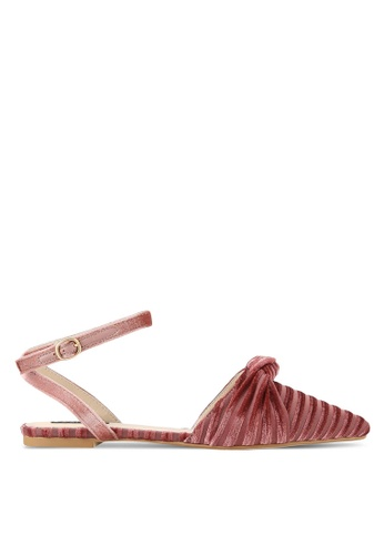 ZALORA pink Slingback Flats with Ankle Strap 7EA57SHF2F053AGS_1