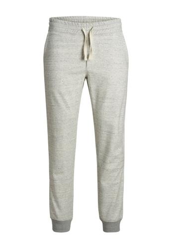 Jack & Jones grey Gordon Soft Sweatpants 4FFE2KA3356F1BGS_1