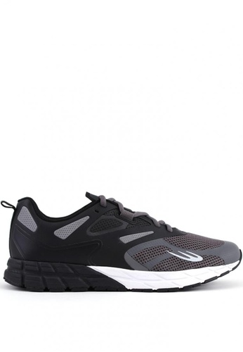 World Balance black and grey Stealth Runner Men's Running Shoes 1368CSH84D7F3DGS_1