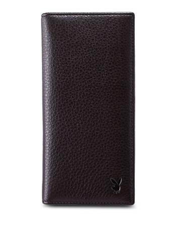 Playboy brown Faux Leather Rfid Blocking Long Wallet 8CABDAC49DAA40GS_1