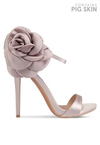 LOST INK 粉紅色 Belle Oversized Flower Heeled Sandals 64426SHDF91789GS_1