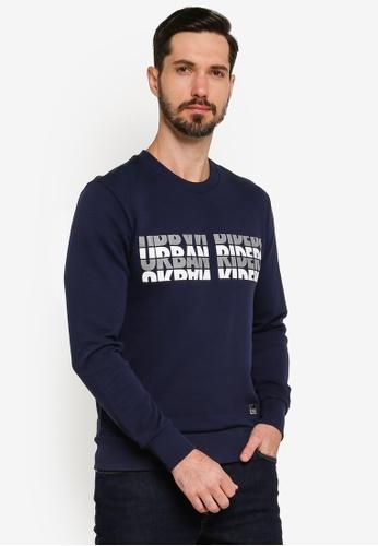 Lee navy Text Sweatshirt 1D3B6AAC4113AEGS_1