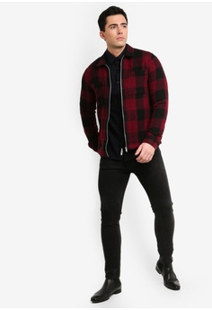 6d76b50c6 60% OFF River Island Berry Buffalo Oversize Shirt RM 255.00 NOW RM 101.90  Sizes XS S M L XL