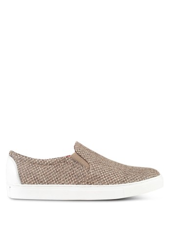 ACUTO multi and brown Leather Slip On Sneakers AC283SH0SL7RMY_1