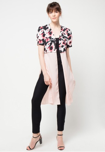 Raspberry pink Karla Short Sleeve Cardigan RA572AA75IBWID_1