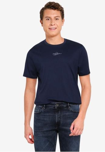 Hollister navy Crew Solid T-Shirt 0976FAA0DADD10GS_1