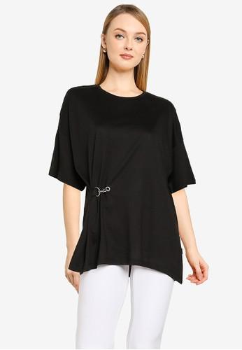 Noisy May black Ida Half Sleeves Top 42598AAE1607C6GS_1