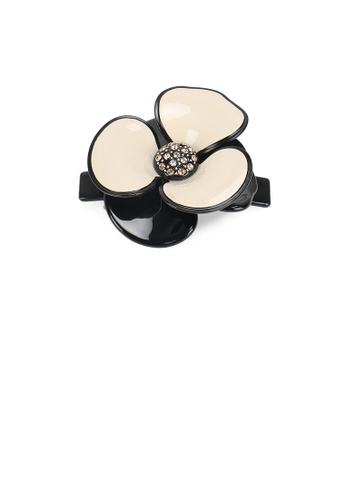 Glamorousky white Fashion and Elegant White Flower Hair Slide with Cubic Zirconia 80E84AC1A2A495GS_1