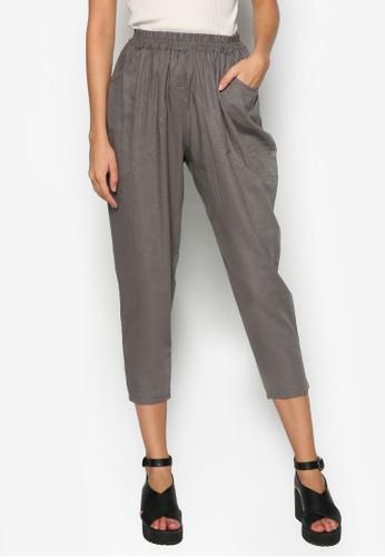 棉麻休閒七分褲, 服飾, 緊zalora 衣服尺寸身褲