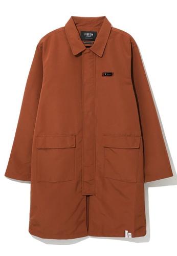 Fivecm brown Logo patch coat C2DC8AA7580799GS_1