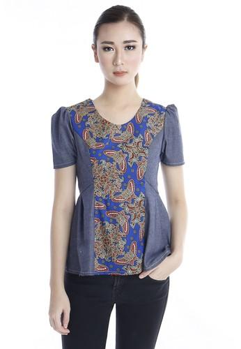 DhieVine Batik blue Nastiti Kupu Top 4FFE4AA9C48D6AGS_1
