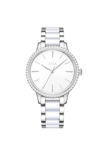 Solvil et Titus silver Fashionista Women's 3 Hands Quartz Watch in Silver White Dial and Stainless Steel Bracelet AE18CAC67FC8CBGS_1