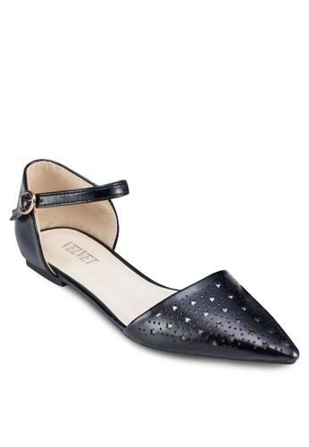 Libby zalora 手錶 評價雕花尖頭側空平底鞋, 女鞋, 鞋