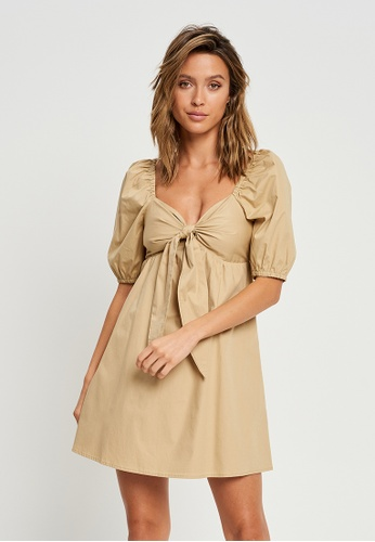 Calli beige Rica Mini Dress 74FC8AA5F350FCGS_1