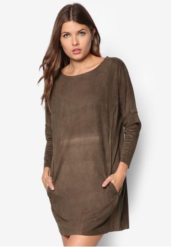 Cocoon 麂皮連身裙, 服飾,esprit 品牌 洋裝