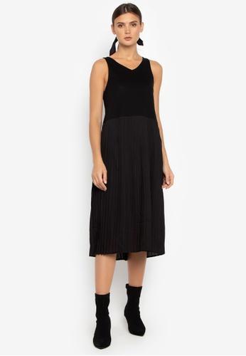 Susto The Label black Mareah Pleated Dress BBBBAAAE967B5DGS_1