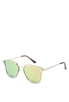 302d66a1f0e Jeepers Peepers gold Rose Gold Bar Clubmaster Sunglasses 01523GL6070C32GS 1