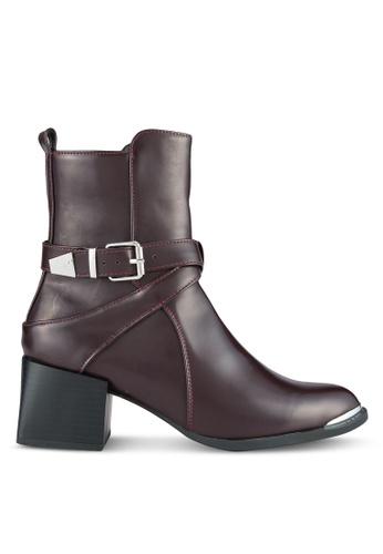 LOST INK red Devon Jodphur Sleek Boots LO238SH0SCMGMY_1