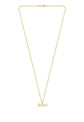 MINIMALIST LAB gold Gold Loved Necklace, Love Is All You Need  2D6DEAC80105AFGS 1 ec43e6cbd9