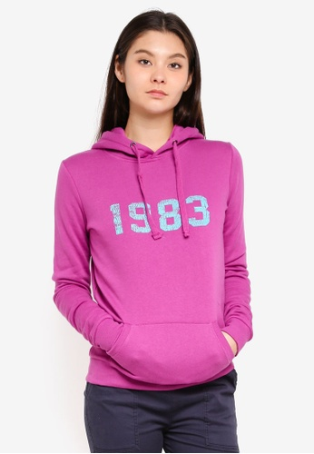 Cotton On pink Delevingne Graphic Hoodie 49329AA7D659EBGS_1