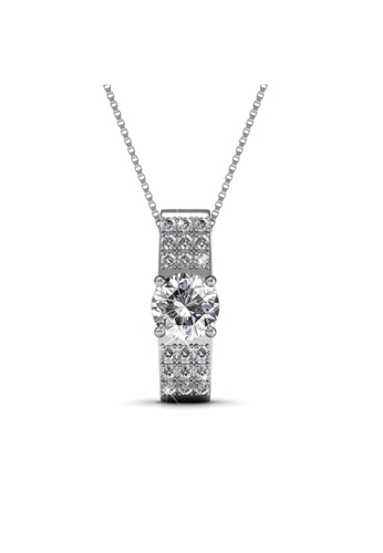 Her Jewellery white Her Jewellery Luxx Pendant with Necklace Chain with 18K Gold Plated EF352AC6499CB7GS_1