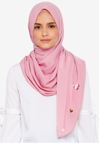 Lubna pink Crepe Shawls and Scattered Sequin 5B844AACFD5E3AGS_1