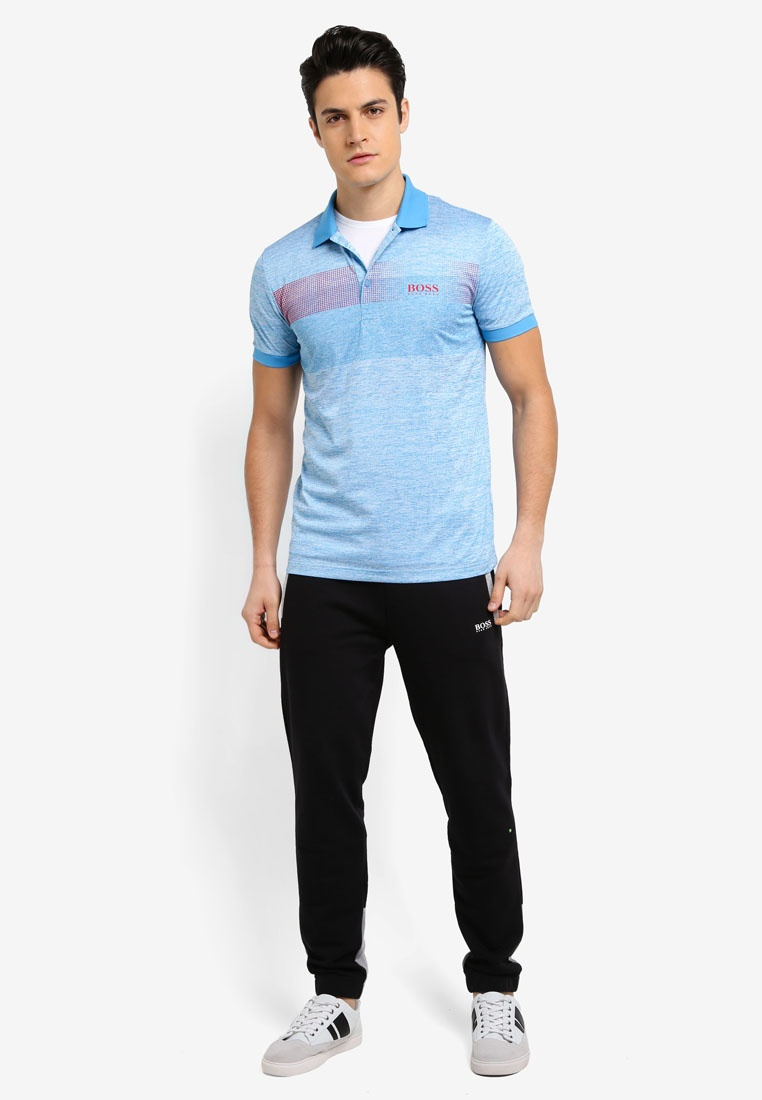 BOSS 2 Shirt Boss Polo Blue Pro Athleisure Paddy Open TOq5Ywx