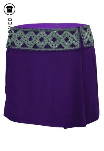 Isabel Marant purple Pre-Loved isabel marant Purple Mini Skirt with Silver Embellishments C041EAAE665F3DGS_1