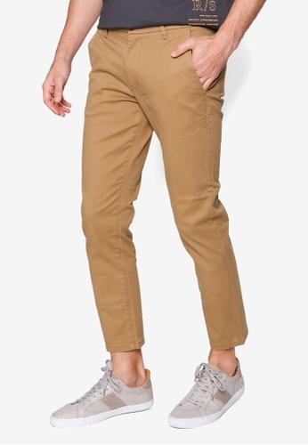 Burton Menswear London beige Tan Slim Chino Pants FA946AAC58CF64GS_1
