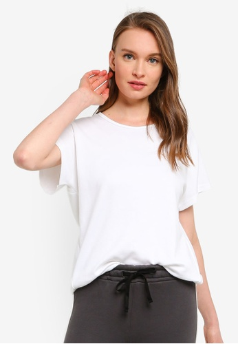 UniqTee white Raglan Crew Neck T-shirt 8FEE7AAC79C9B3GS_1