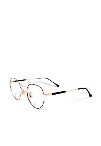 ASLLY black and gold Breakfast at Tiffany's│Anti-blue light glasses with golden detailed frame CC728GL2B6A5A0GS_1