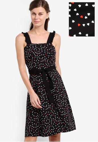 Dorothy Perkins black Black Heart Ruffle Sundress DO816AA88FJBMY_1