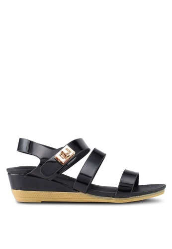 Mimosa black Twist Lock Strap Sandals 043C2SH27B1FE9GS_1