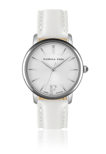 Isabella Ford white Isabella Ford Adore White Leather Women Watch F7F9AAC246A0E7GS_1