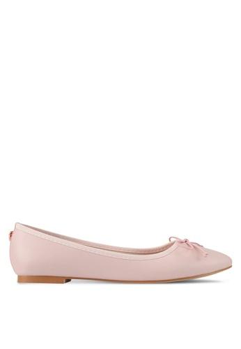 Velvet pink Bow Ballerinas B6356SHC9C9CFEGS_1