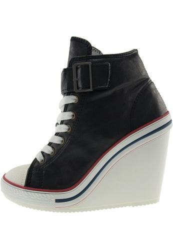Maxstar 黑色 新款韩国鞋777-1Band-TC時尚帆布布混合女黑色 US Women Size MA345SH70GYFTW_1