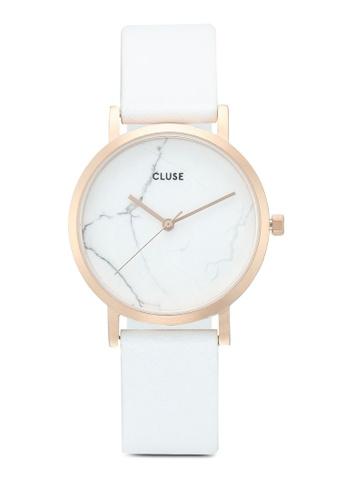 La Roche Petite Rose Gold White MarbleWhite Watch