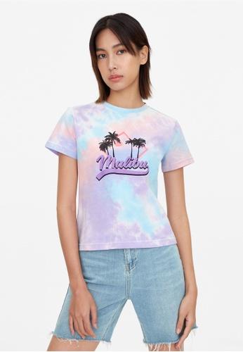 Pomelo purple Malibu Tie Dye Graphic Tee - Purple 8210BAA91C2AF4GS_1