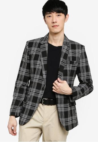 ZALORA BASICS 多色 Tailored Check Blazer 09AA8AAF52927BGS_1