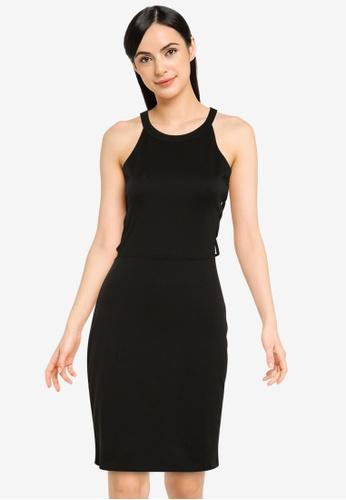 PIMKIE black Straight Halter Dress 204B5AA53BD273GS_1