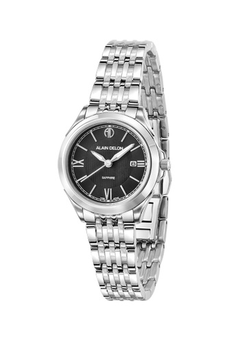 Alain Delon silver Alain Delon Women AD340-2333 Silver Stainless Steel Watch 57C6CACAC489E2GS_1
