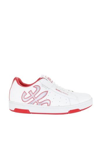 Royal Elastics white and pink Hydra Leather Sneakers RO796SH2UYLWHK_1