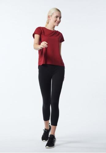 AVIVA red AVIVA Alita Women Short Sleeve Split Back Tops 09349AA86803F2GS_1