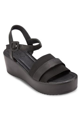 Glyn 彈性寬帶繞踝楔型鞋, zalora 心得女鞋, 鞋