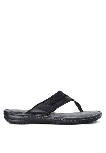 Alberto black Slide Flat Sandals AL375SH96QELPH_1