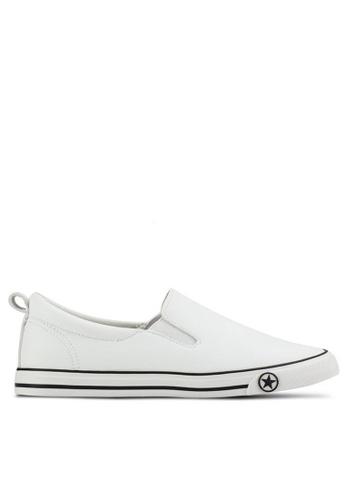 Twenty Eight Shoes 白色 基本款星星懶人鞋 16396 97431SH1C4A941GS_1