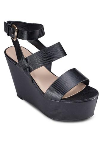 Karika 厚底楔型涼zalora 包包評價鞋, 女鞋, 鞋