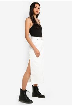 d22a68e9e8ce8 TOPSHOP Side Split Denim Midi Skirt S  79.90. Sizes 6 8 10 12 14