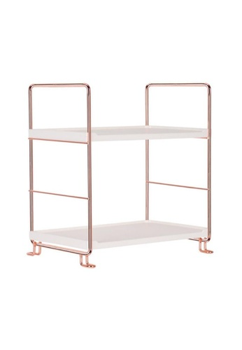 DILAS HOME 2-layer Rose Gold Storage Rack (Rose Gold) E1931HLBD0656AGS_1