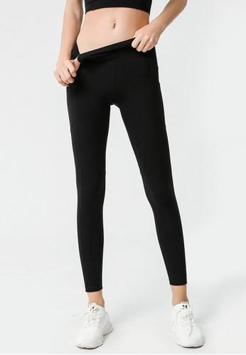 B-Code black ZYG3047-Lady Quick Drying Running Fitness Yoga Sports Leggings -Black 7544EAADDD20BFGS_1